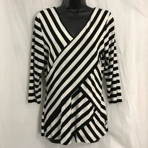 Vince Camuto Cross Layer V Neck Top